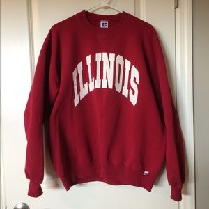 Vintage oversized Illinois crew neck sweatshirt